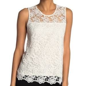 NWT Nanette Lepore Lace Scoop Neck Tank Top